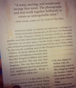 Miss Peregrine back cover